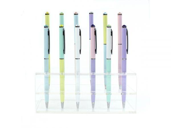 4 Double Pastel Colored Crystal Pen