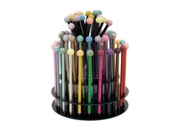 4 Glitter Ball Topper Pencil