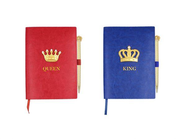 Souvenir Notebook with Crown Decoration